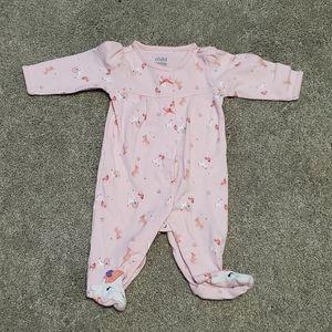 Baby girl unicorn pajamas